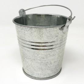 Seaux zinc - 8cm - naturel