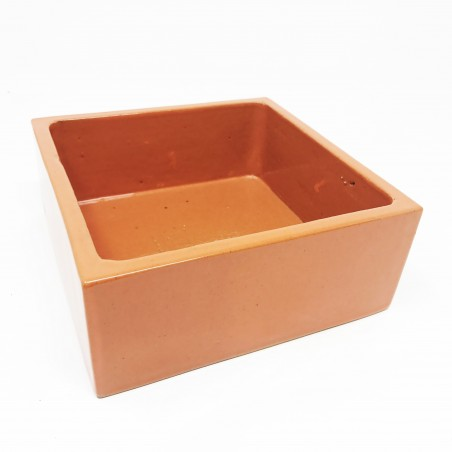 Coupes carrées émaillée - 15x15x6cm