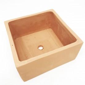 Carré bas terre cuite - 13x13x6,5cm