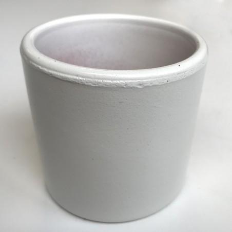 mini pot terre cuite émaillé blanc
