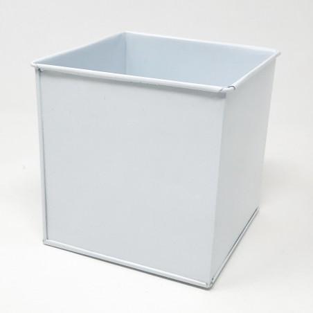 Carré zinc blanc 12cm x 12cm x 12cm