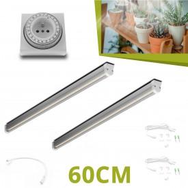 2 Barres horticoles LED - 60cm pour succulentes
