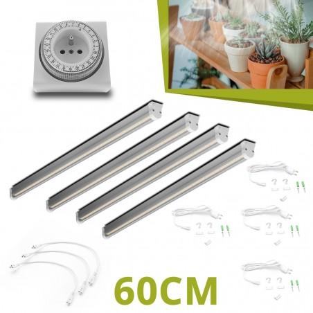 4 Barres horticoles LED - 60cm pour succulentes