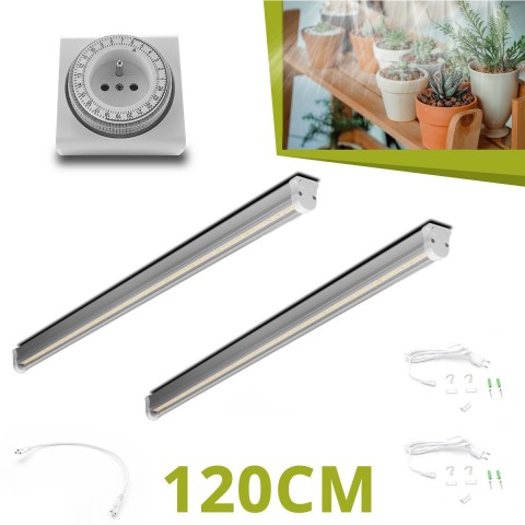 2 Barres horticoles LED 120cm pour succulentes