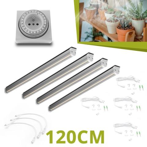4 Barres horticoles LED 120cm pour succulentes