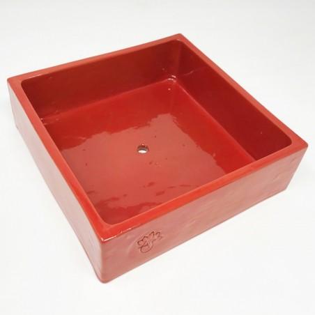 Coupe émaillée Rouge - Taille L (20x20x6)