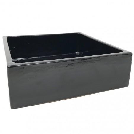Coupe émaillée Noir- Taille L (20x20x6)