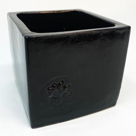 Cube émaillé Noir - Taille M (8.5 x 8.5 x 8)