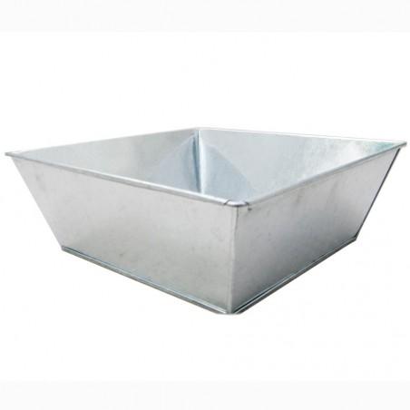 Coupe carré zinc brillant - 16x16x7cm